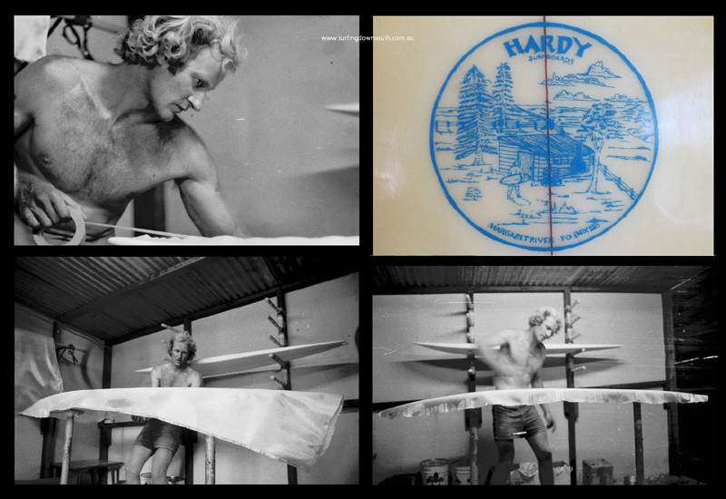 1976 Tony Hardy Surfboards Marg River compilation B Grant Mooney & Ric Chan pics