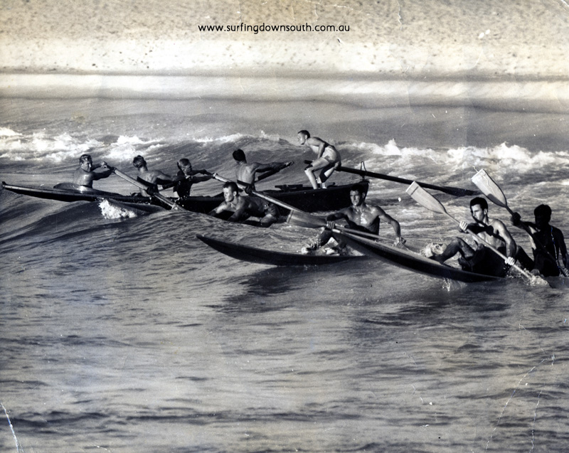 1958 City BeachTraining for Aust Surf Carnival Dave Williams & Tony Harbison - West pic ex S MaileyA