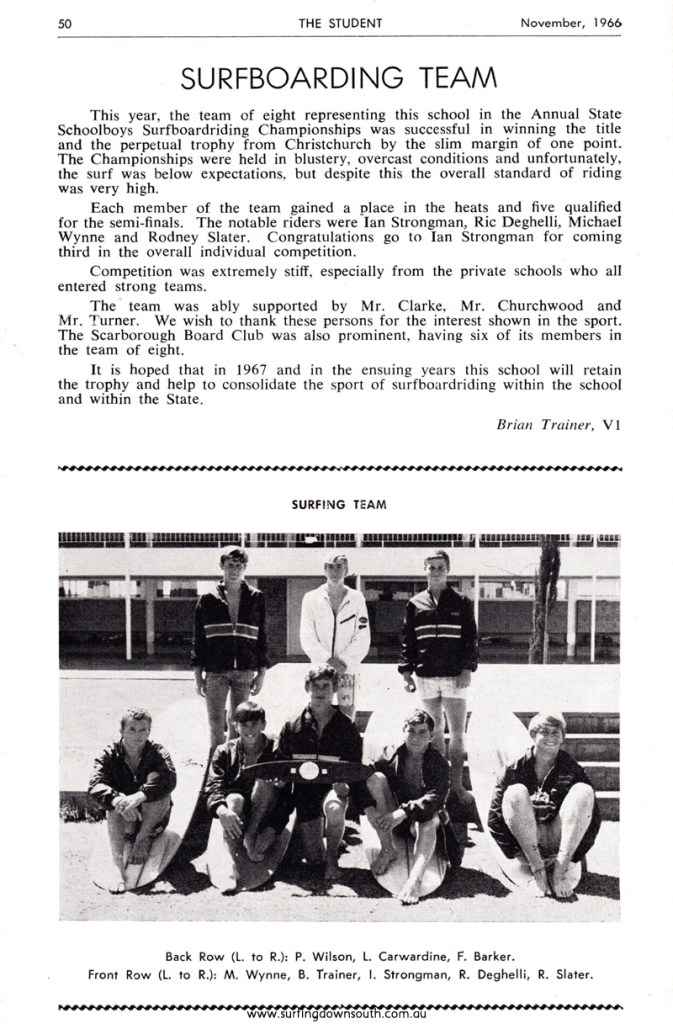 1966 Scarb Senior High School State School Boys Surfboard Team IMG_01