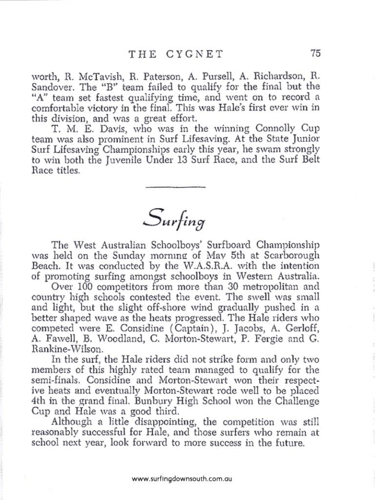 1968 State Schoolboys Surfing Comp - Hale School Mag Errol Considine IMG_0001