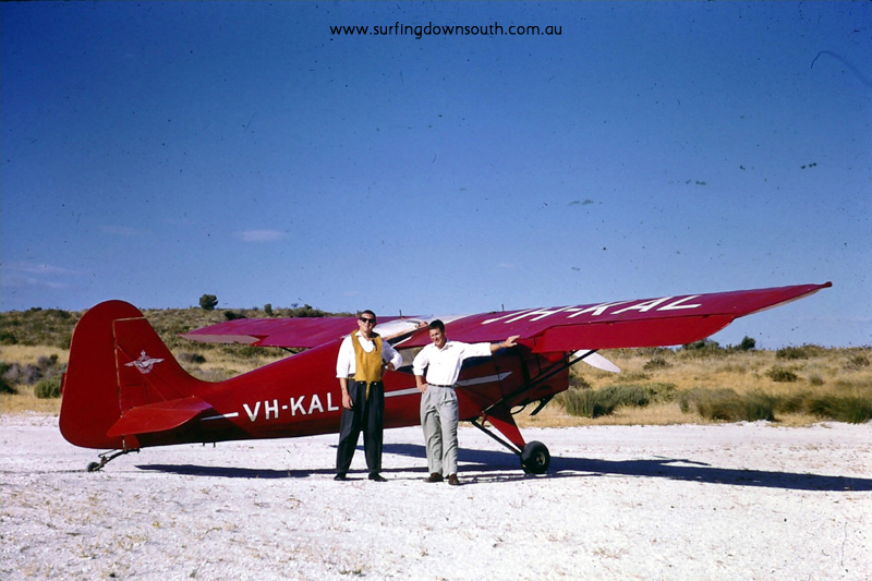 1958 Rotto Don Roper & Barry 'Joe' King next to Auster monoplane  - Brian Cole pic 005