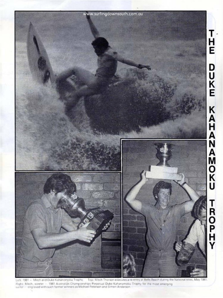 1981 Mitch Thorson Duke Kahanamoku Award