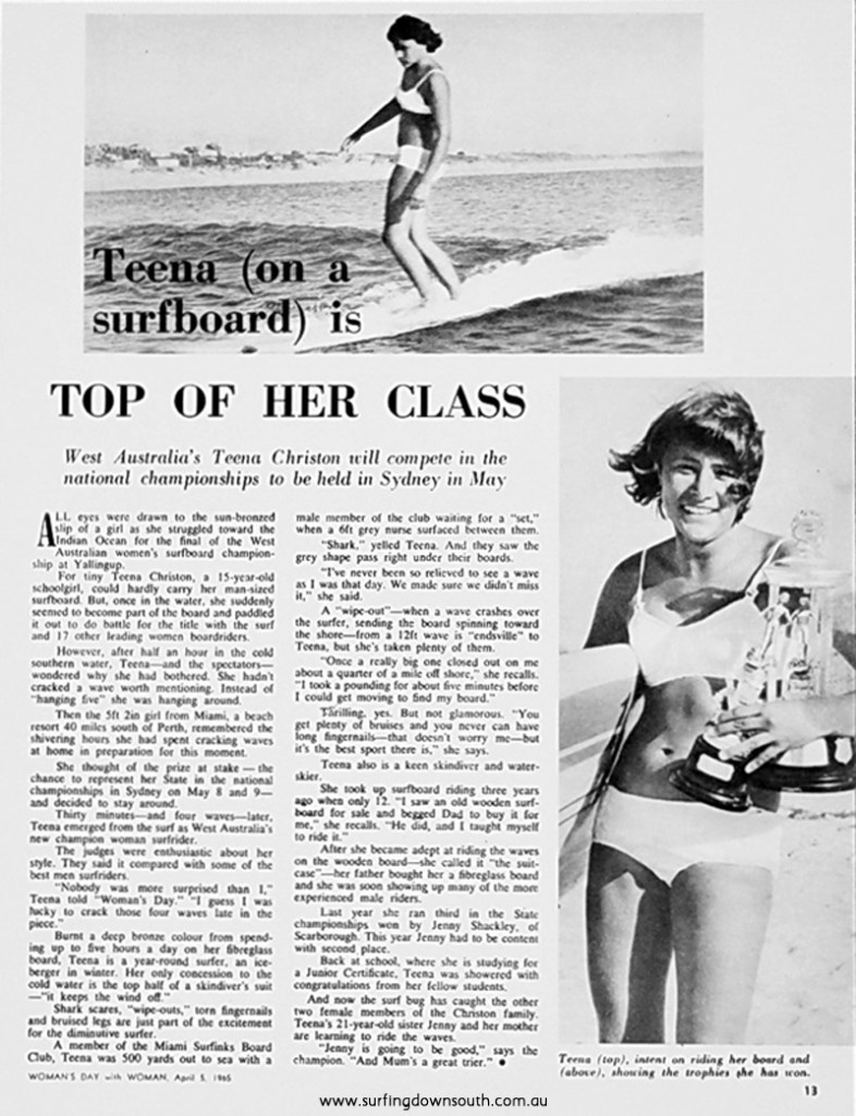 1965 Tina Christon Womans Day report - Len Dibben pic