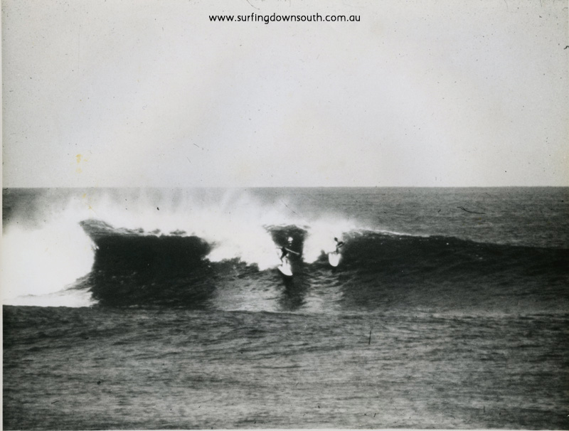 1962 Gallows outside break J Keenan & Puppydog on NSW Barry Bennet boards - J Keenan pic