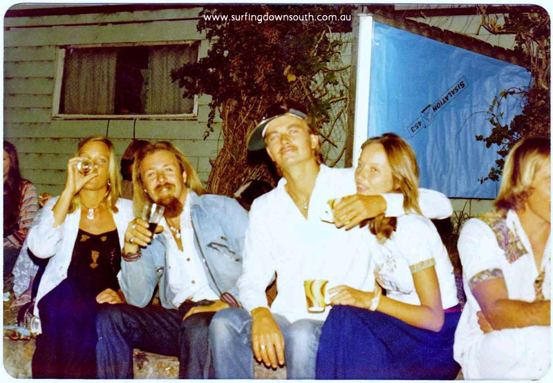1975 Dunsborough Gemmo's NY Party unknown, Ronnie Ratshit & Ian & Jenny Mitchell -  P Mac pic