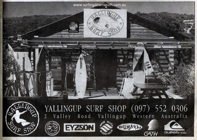 1993 Yalls Surf Shop Advt Wet Side News