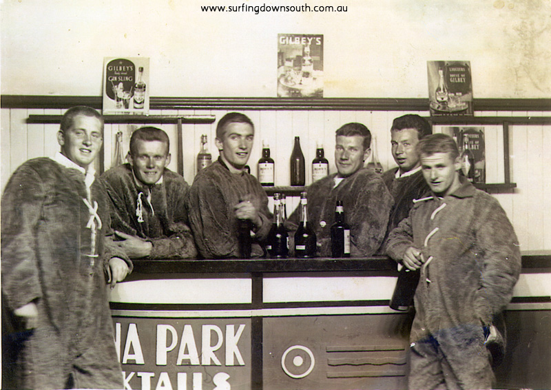 1956 Melb Luna Park WA boys flying suits unknown, Dave Williams, K Jones, Jim Keenan, R Howe & Graham Killen - J Keenan pic