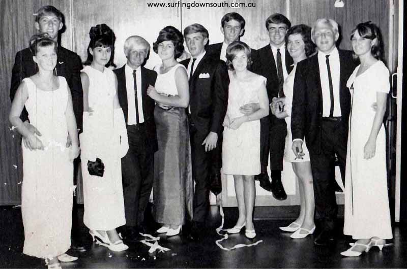1966 Surfers Ball far right Mick Mc Gowen Yanchep R Moss pic