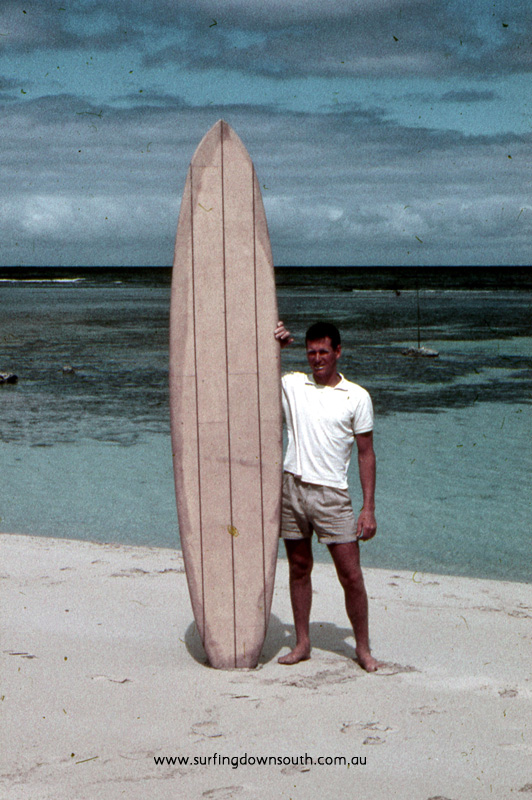 1958 Yalls Barry (Joe) King partner with Brian Cole in King & Cole Surfboards in 1961 - John Budge pic img591A