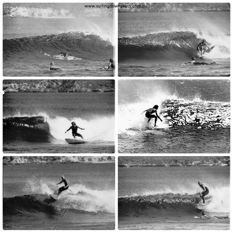 1970s Rotto surfing Kings Reef Ric Chan