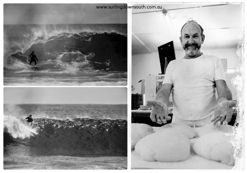 1980 Rotto Damon & unknown surfing & MItch's dad at bakery collage_photocat