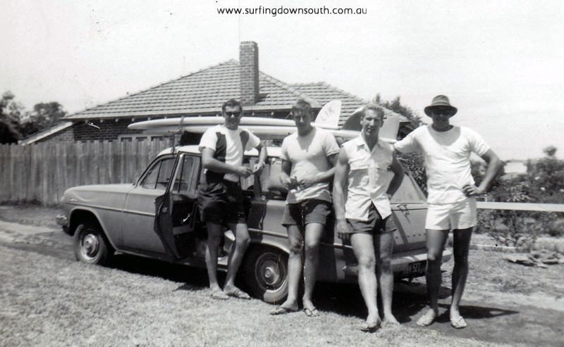 1963 Leaving Perth for Sydney in Des Gaines Holden Station wgn D Gaines, J Mackenzie,R McNab & J Farrell (Dan Daragan missing)- Lik IMG_0003