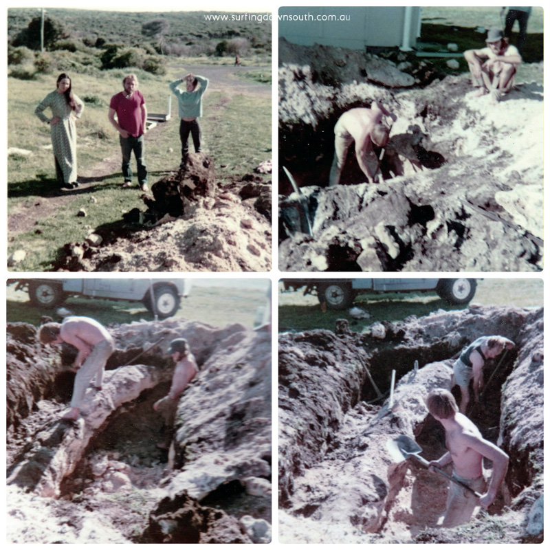 1960s Yalls Peter Dyson & Lance Bevan sewerage trench trench collage_photocat