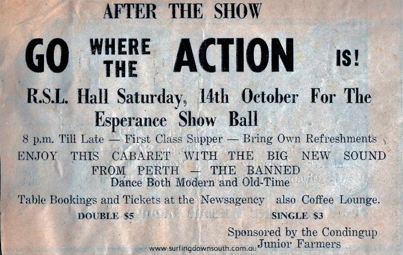 1966 The Banned playing Esperance Show Ball promo - PD image IMG_0047