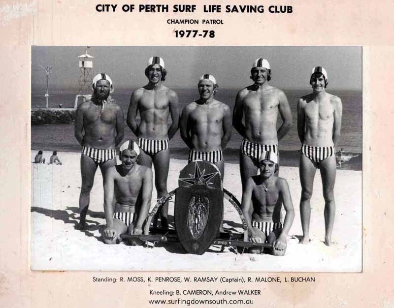 1977-78 City Beach Ron Moss clubbie 8 Years
