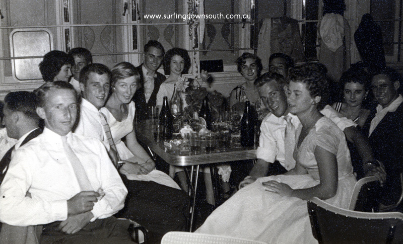 1950s Pagoda Ballroom Sth Pth CBBC crew 1st Reunion John Colin Jo, Alma Artie Mark unknown Sandra Stretch unknown Ray Helen- John Budge