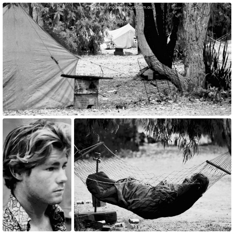 1979 Steve Hannett tent site Prevelly collage_photocat