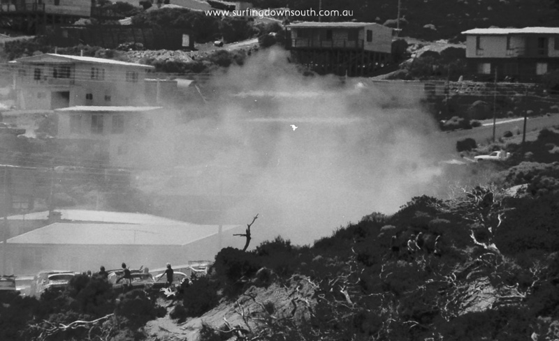 1978 Sth Pt Aust Day Comp car park fire - Ric Chan 012