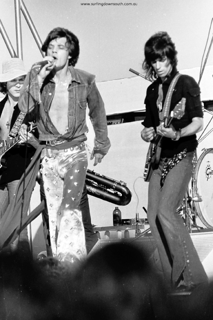 1973 The Rolling Stones – Perth concert images by Ric Chan