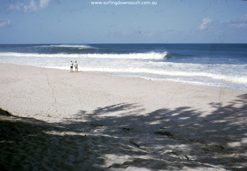 1963 Hawaii Pipeline 2 people on beach - Brian Cole img666
