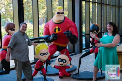 Mercedes Hutchens from Surfing to Success visits the Incredibles at Pixar Animation Studios.