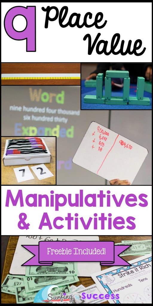 Do your students understand place value? From Kindergarten to 5th, introducing and teaching place value is the backbone of many skills. Check out these manipulatives and activities.  Whether you are starting with hundreds, tens and ones or working with decimals, using manipulatives like money, place value blocks, and digiblocks can help make it concrete.  Teach students standard, word, and expanded form. Check out these free tips and ideas for Kinder, 1st, 2nd, 3rd, 4th, and 5th grade!