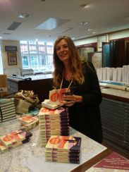 November - signing books at Stanfords
