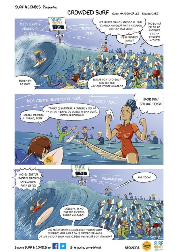 comic de surf por surf and comics