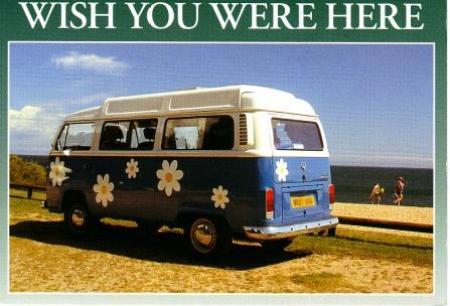 Postcard van