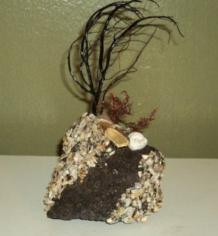 Beach salvage mini-sculpture by OC artist Marty Naftel