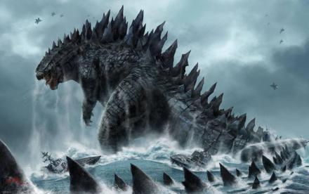 Godzilla in water
