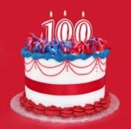 100 Birthday Cake