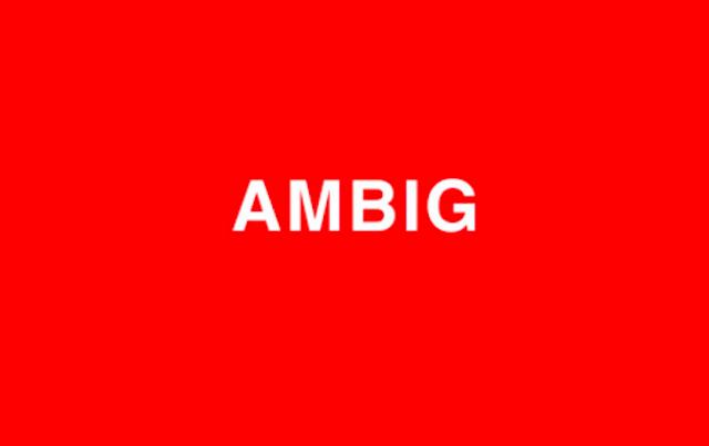 ambig AMBIGUOUS アンビギュアス アムビッグ ブランドロゴマーク