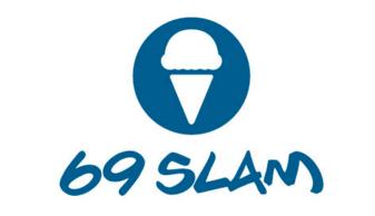 69SLUM ロックスラム ブランドロゴ アイスクリーム ボードショーツ