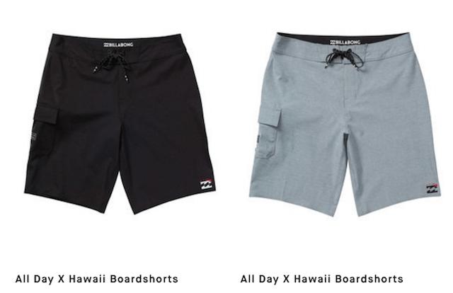 allday x hawaii billabong boardshorts