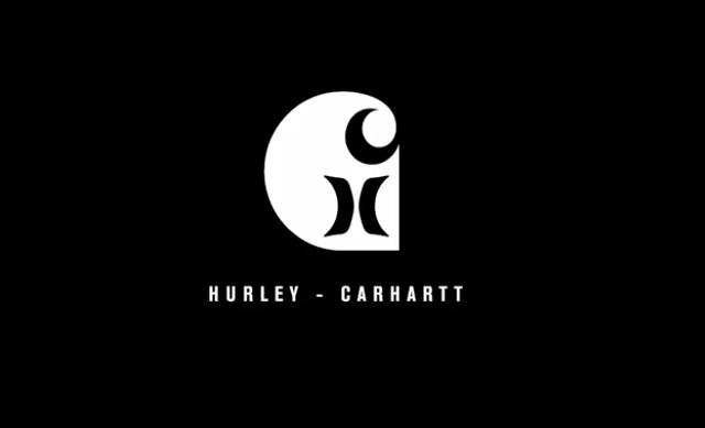 hurley carhartt コラボレーション ロゴ ボードショーツ