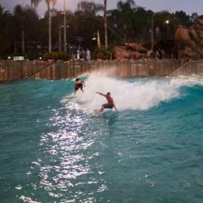 Photo by Adam Walker | Splitting a Peak in a Wave Pool