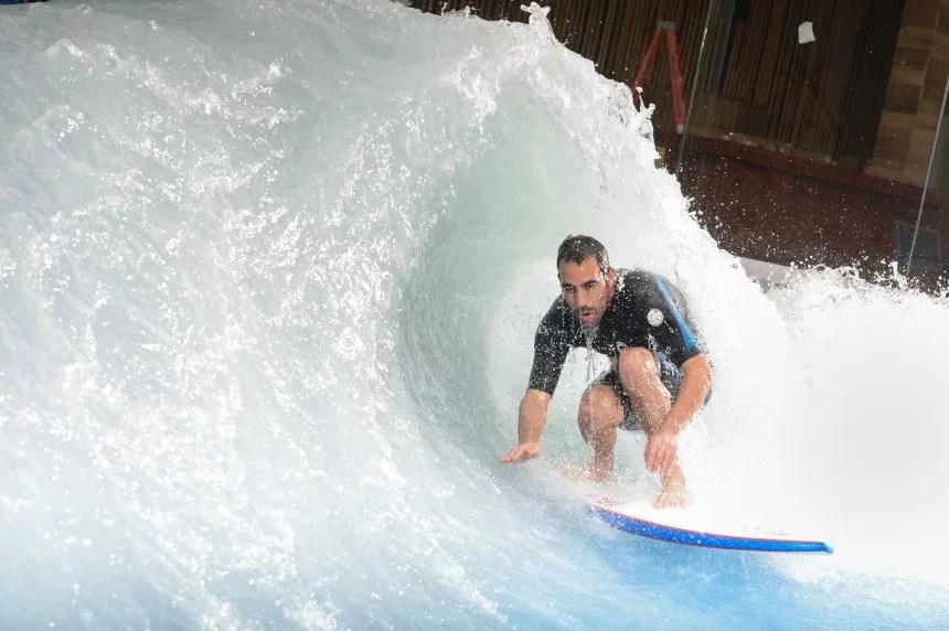 Getting Barreled at Oasis Surf Montreal   Surf Park Central