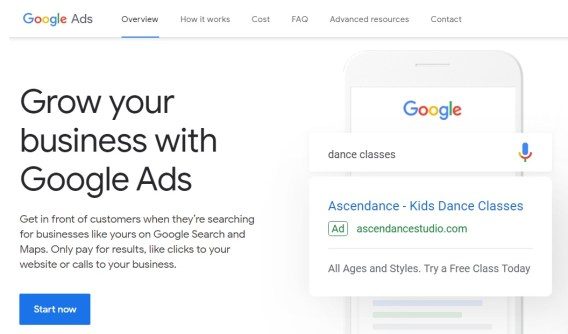 Crea un account Google Ads