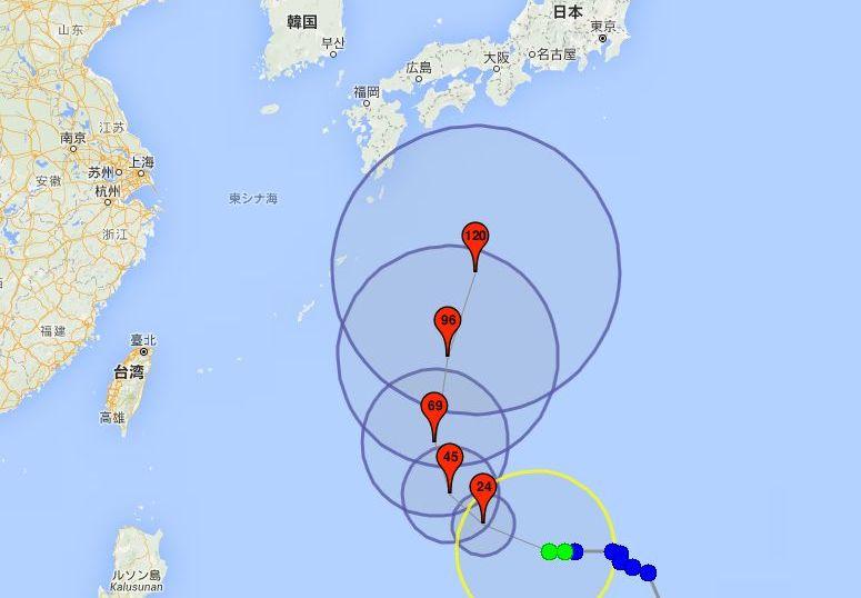 台風21号ドゥージェン
