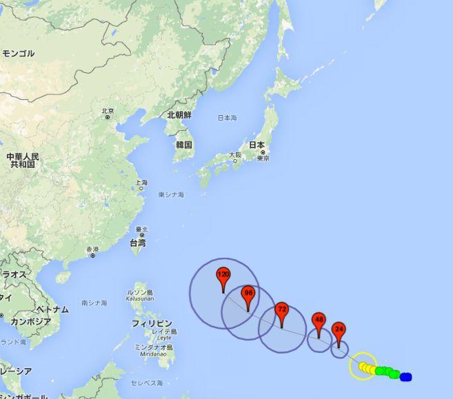 台風26号発生中