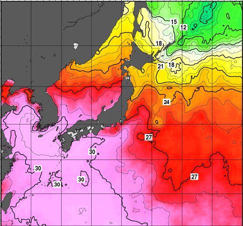 台風8号と海水温