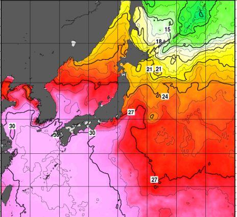 台風9号海水温