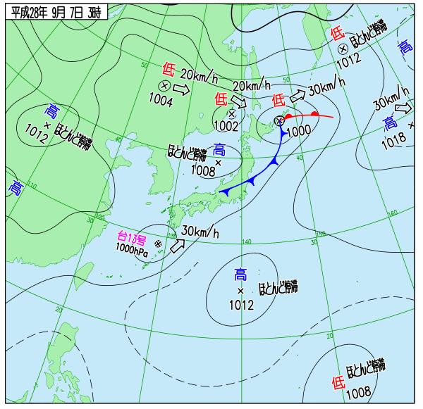 台風13号上陸