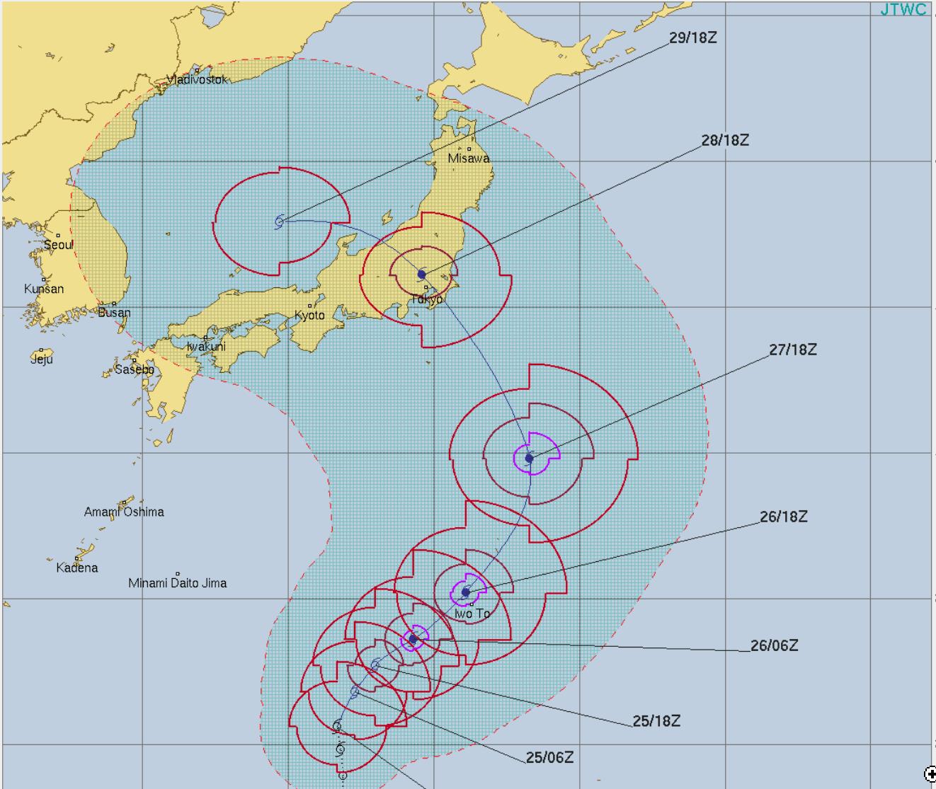 台風12号ジョンダリ
