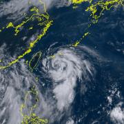 2020年台風4号ハグピート発生中
