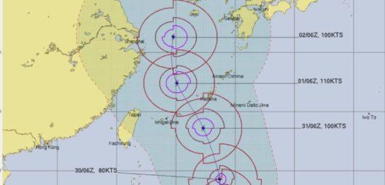 台風9号メイサーク