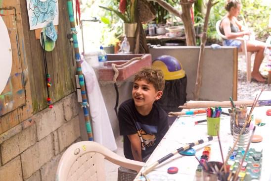 family retreat art class bodhi