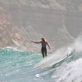 Jackie Surfing Morocco