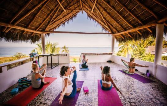 Surf With Amigas Mexico Yoga